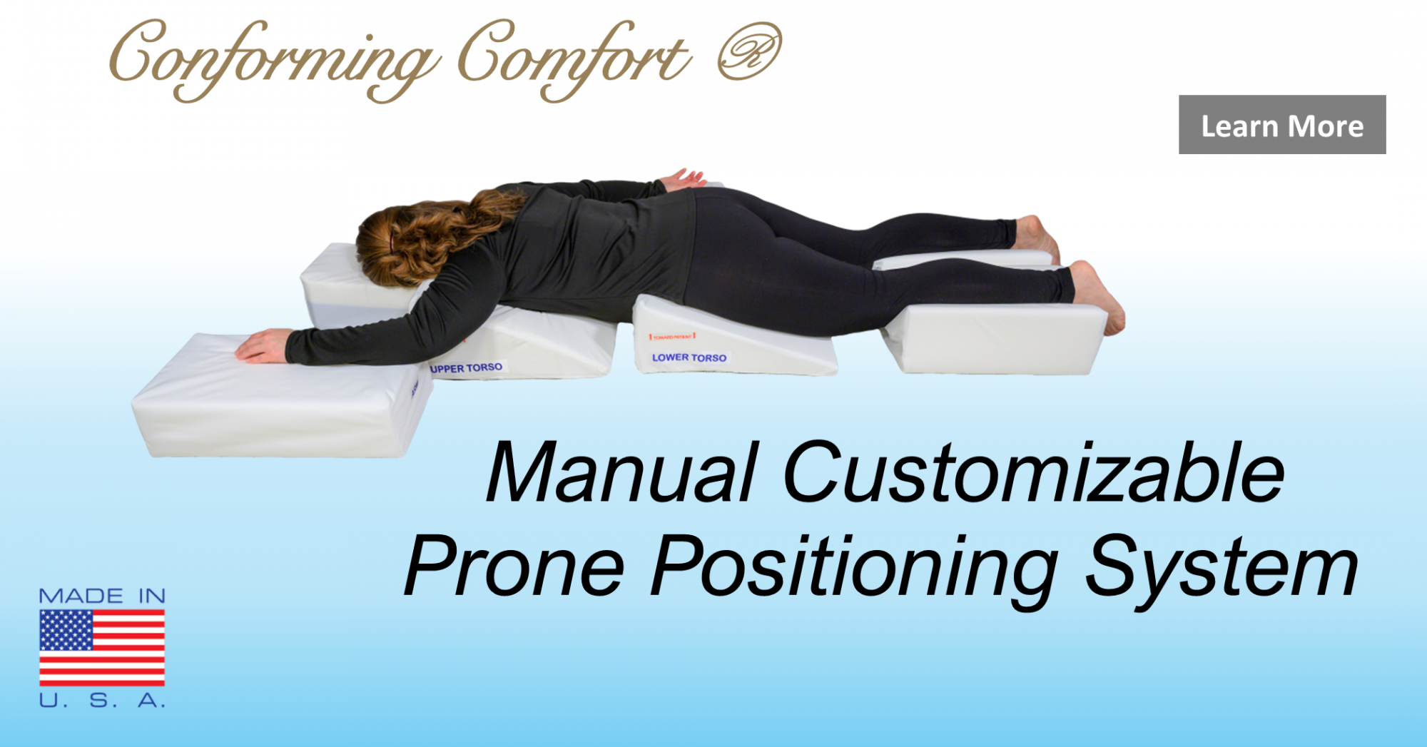 Manual Customizable Prone Positioning System